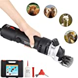 SUNCOO Sheep Shears Portable Electric Clippers Heavy Duty Professional Grooming Shearing Trimmer 110V for Goat Llama Horse an
