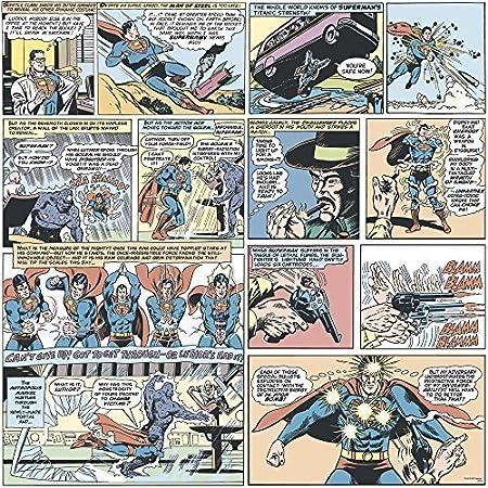 Galerie Official Superman Comic Strip Pattern Vintage Childrens