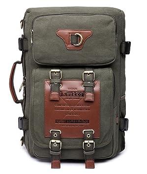 d8f4c303a8551 Rucksacke Herren Vintage Military Canvas Rucksäcke Retro Wanderrucksack  Hiking Backpack Kaukko 3 Way Multifunktionsrucksack Schulrucksack für