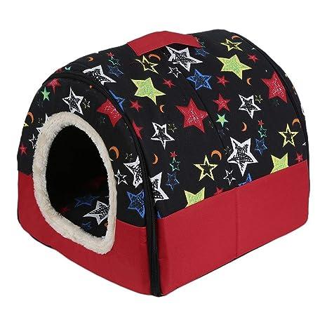 Plegable portátil perro de perrito del gato perrera de la casa nido cama suave con la