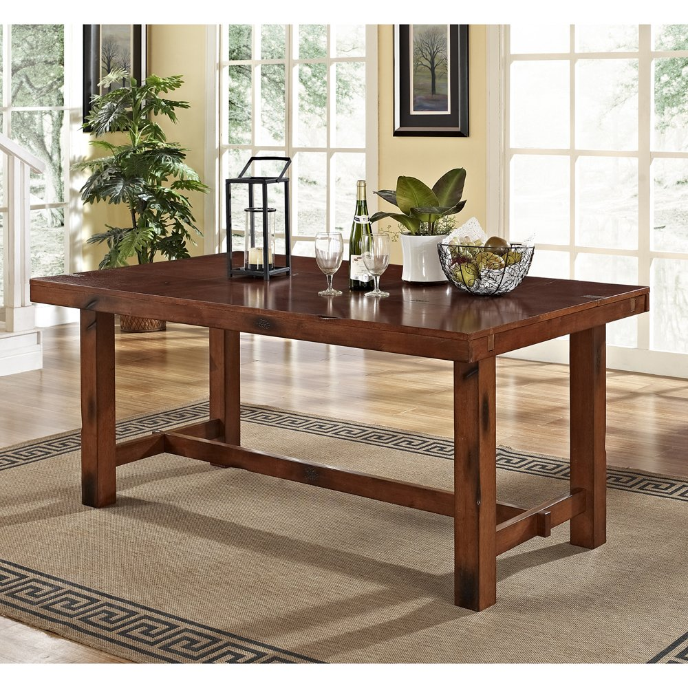 Amazon.com - 6-Piece Solid Wood Dining Set Dark Oak - Table u0026 Chair Sets : solid oak dining table set - Pezcame.Com