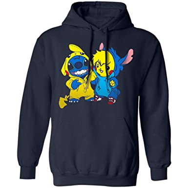 san francisco d0a53 c3fcf Amazon.com: USA Shop Stitch Hoodie Pikachu Pokemon ...