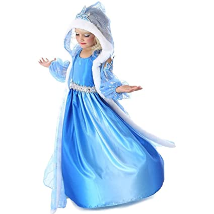 Buy Fancydresswale Ice Snow Queen Elsa Hooded Dress Toddler Princess