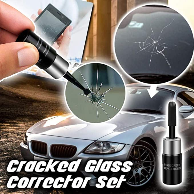 Crack Repairing for Car Dragon Honor Automotive Glass Nano Repair Fluid-Car Windshield Repair Resin Cracked Glass Repair Kit,Glass Corrector Set