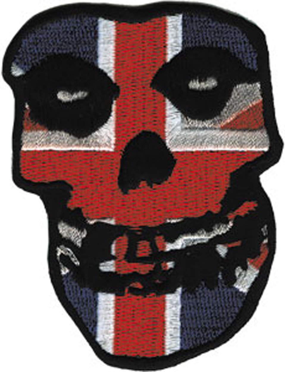 3 x 2.5 Embroidered Bestickt Patch Flicken Iron-On // Sew-On Officially Licensed Products Classic Rock Artwork MISFITS Application British Skull Patch Flicken