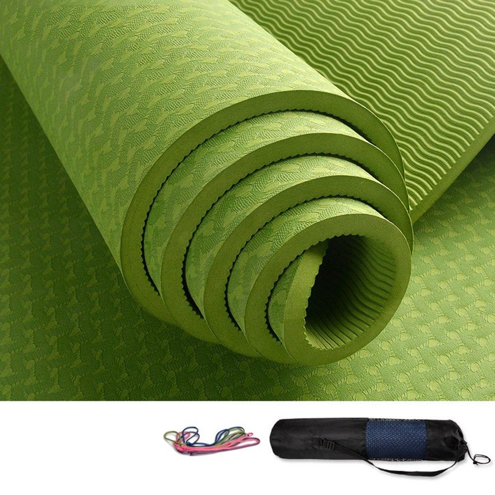 QZ Yoga Matte 183cm  80cm Yogamatten Männer und Frauen Sportmatten Fitness Matten