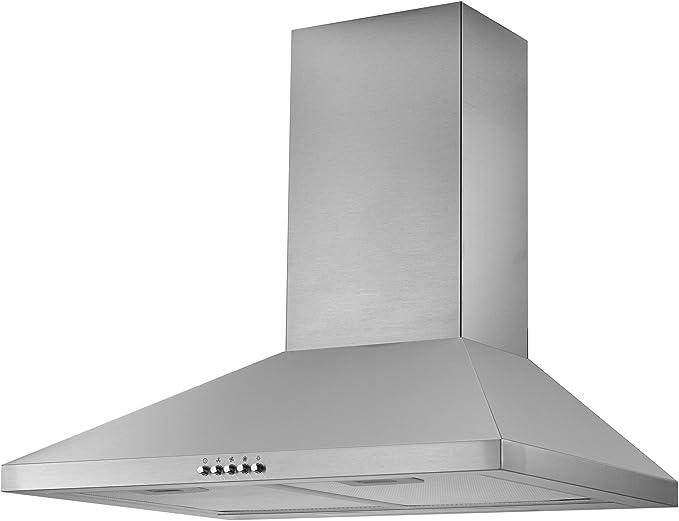 Campana extractora de chimenea de la marca Cookology, de 60 cm, de acero inoxidable. Extractor de cocina con ventilador, CMH605SS: Amazon.es: Grandes electrodomésticos
