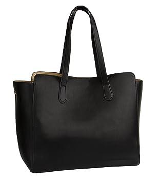 bester Großhändler hochwertiges Design Outlet-Boutique SIX Basic große Schwarze Damen Handtasche, knautschige ...
