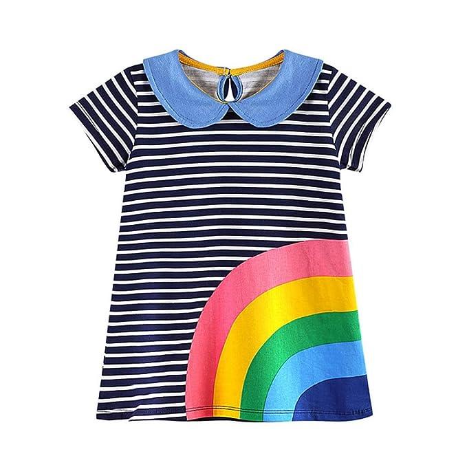 Amazon.com: Niña Vestidos ❀ orangeskycn ❀ bebé Kid Rainbow ...