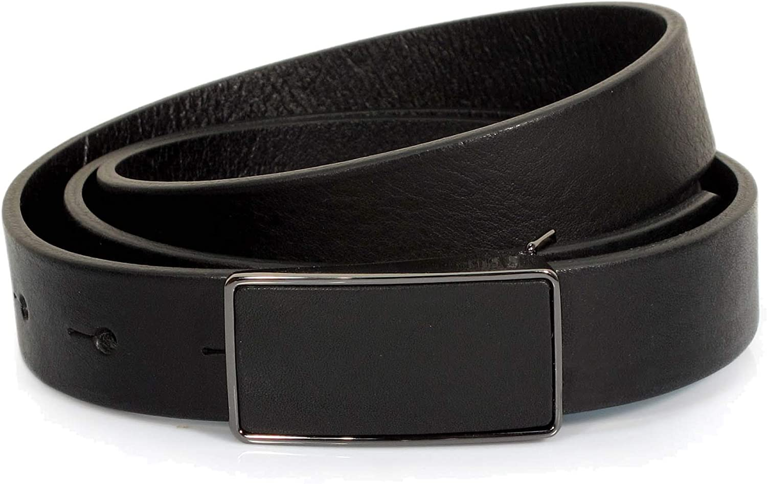 CW7 Womens Real Genuine Leather Black Belt 7//8 Wide S-L Thick Long Casual Jeans