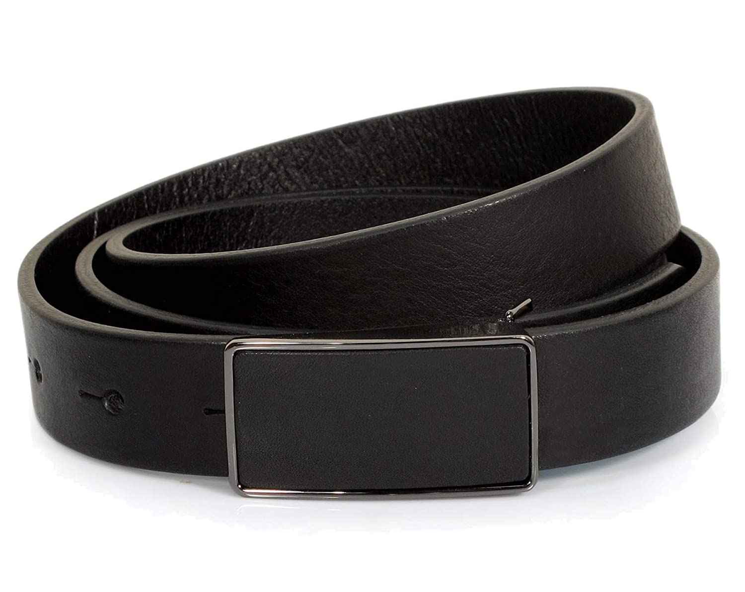 Womens Real Genuine Leather Belt Black Brown White 7//8 Wide S-L Casual Jeans TU1