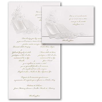 amazon com 1025pk perfect love pearl invitation spanish