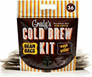 Grady's Cold Brew Iced Coffee Cold Brew Kit, Regular (Pack of 12), Unsweetened, Keto-Friendly, Non GMO