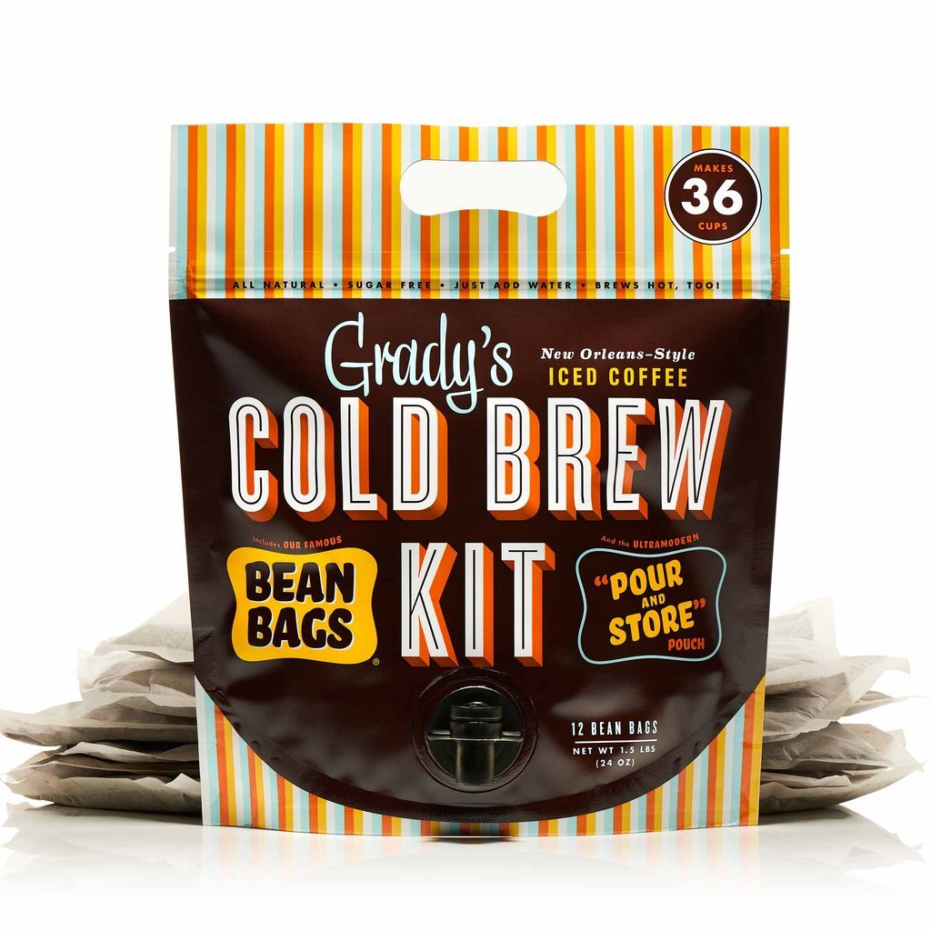 Grady's Cold Brew Iced Coffee Cold Brew Kit, Regular (Pack of 12), Unsweetened, Keto-Friendly, Non GMO by Grady's Cold Brew