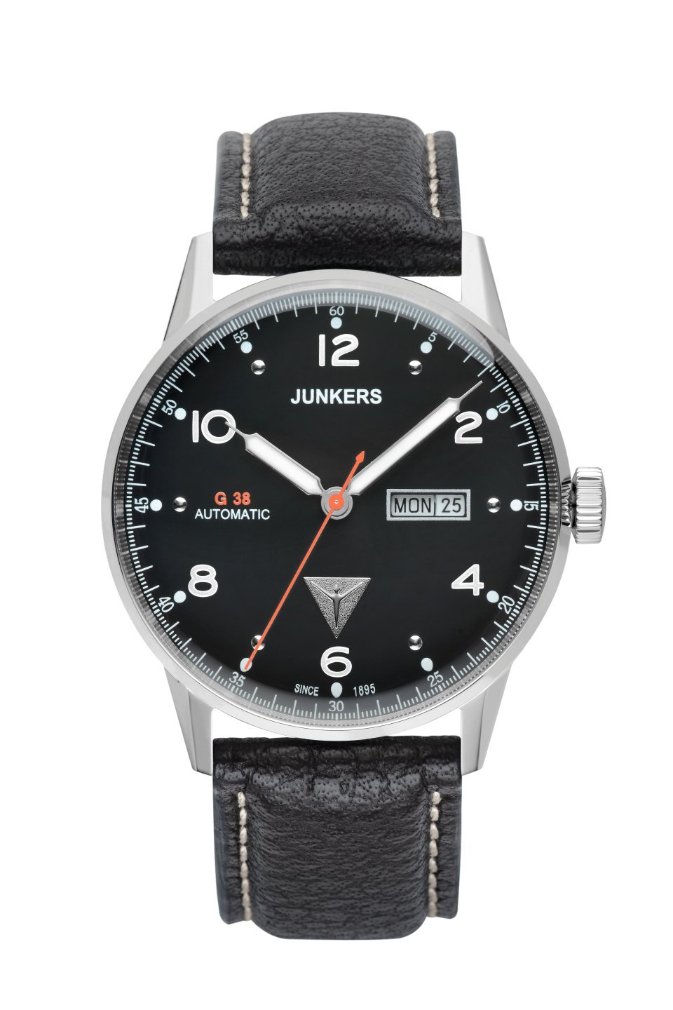 Junkers 6966-2 Mens G38 Black Leather Strap Watch
