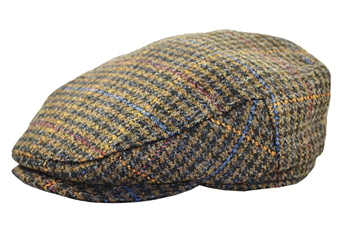 72da50ef Image Unavailable. Image not available for. Color: Cappello Men's Wool Plaid  Ivy Cap ...