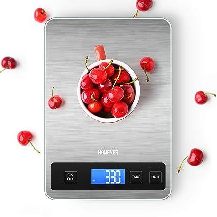 Báscula Cocina, Balanza de Cocina Homever de 15 kg Panel Grande de 6,3