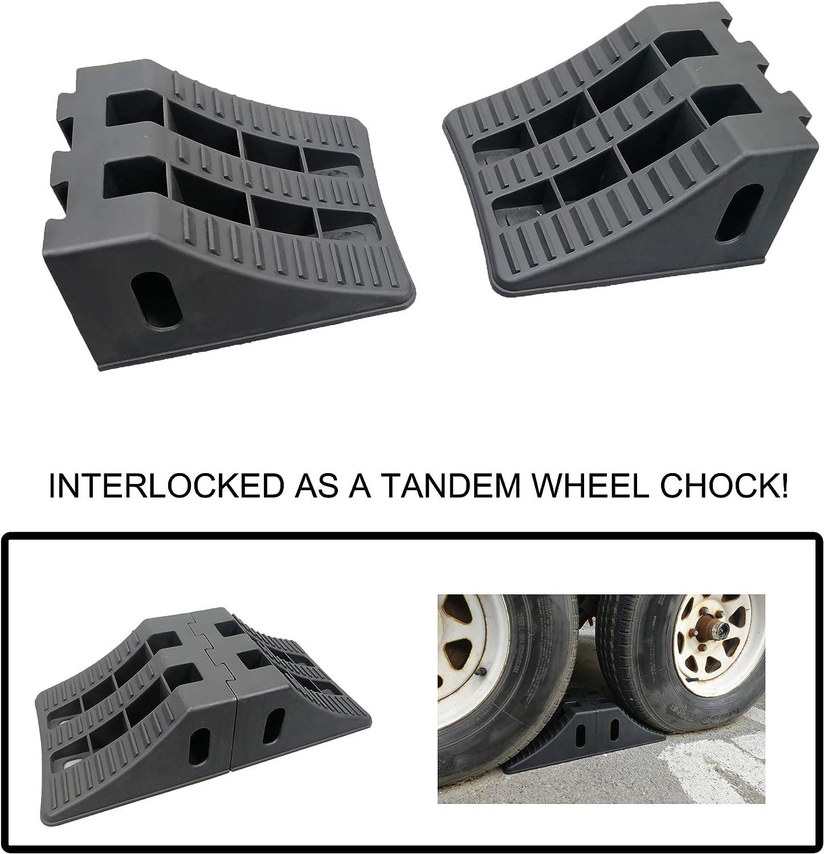 Rubber Wheel Chock LARGE 260L X 180W X 210H TUFF Car Boat Truck Trailer stop