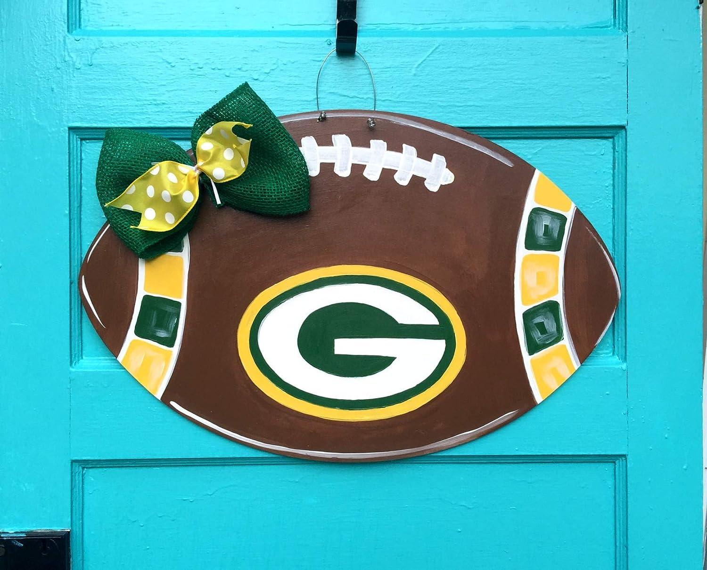 Green Bay packers football door hanger wreath
