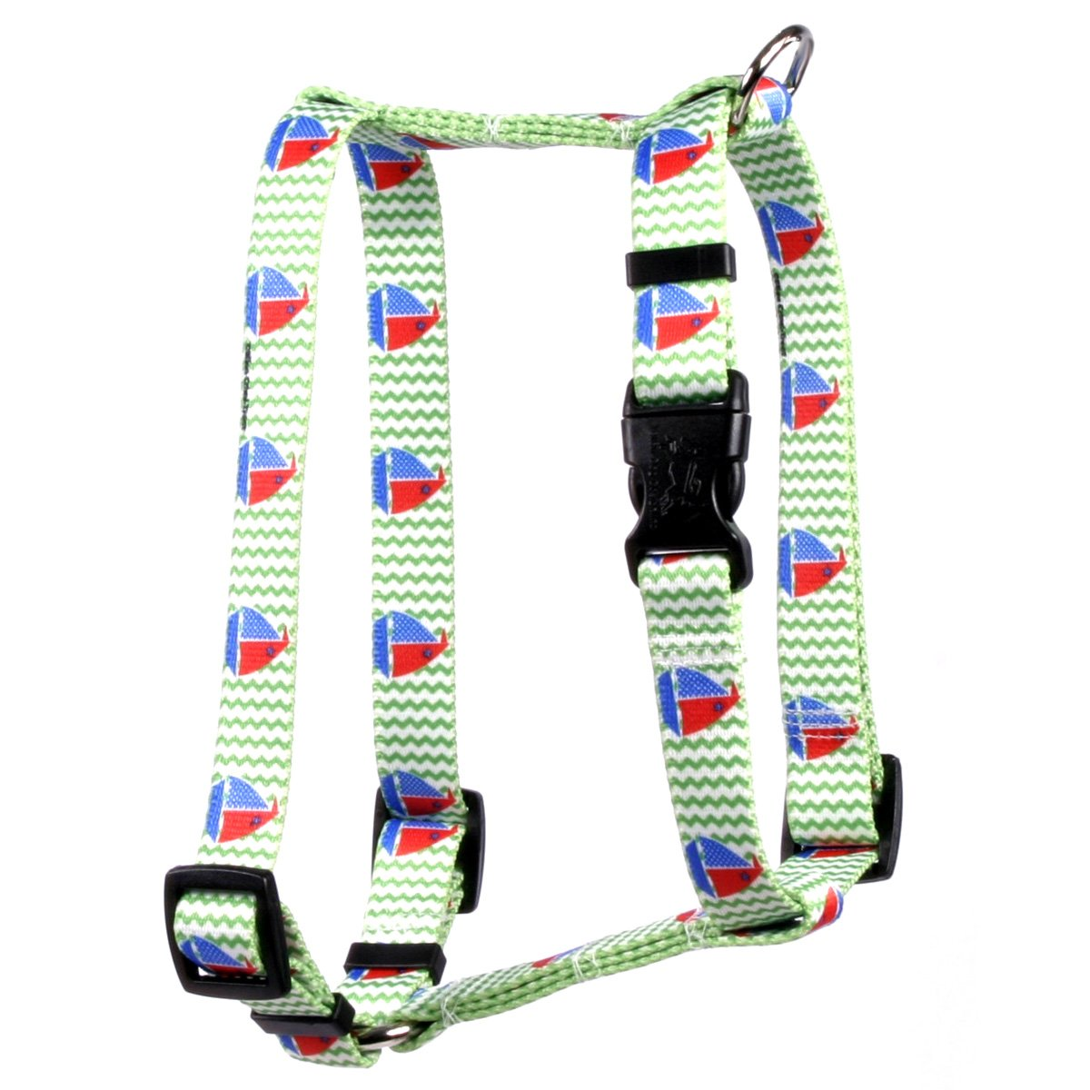 Yellow Dog Design Toy Boats Roman Style''H'' Dog Harness-X-Large-1'' and fits Chest Circumference of 28 to 36''