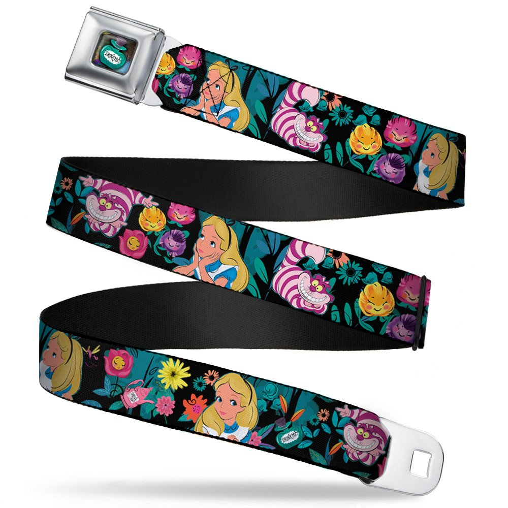 Alice/cheshire Cat/flowers Poses Multi Color Seatbelt Belt DYHU-WDY279