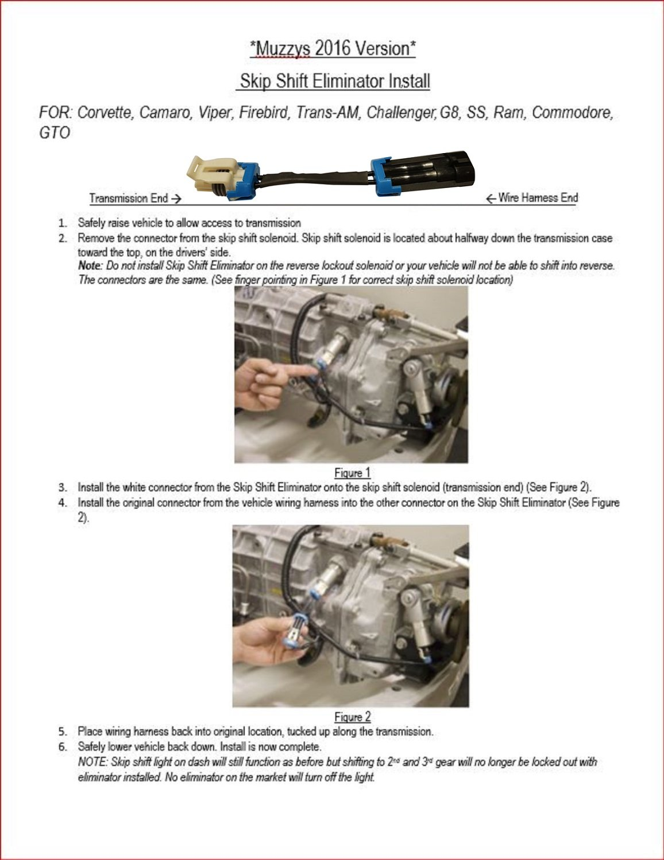 Muzzys 93 17 Camaro 97 C5 C6 C7 Corvette Cags Skip Gto Wiring Harness Shift Eliminator Bypass Kit Automotive