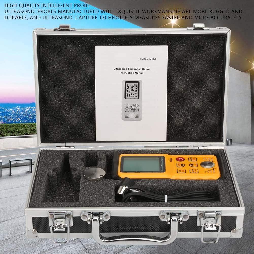 Stahl Ultraschall Dickenmessger/ät,AR860 digitaler Ultraschall Dickenmessger/ät Tester,Ultraschall Dickenmessger/ät Schallgeschwindigkeitsmesser Metalltiefenmessger/ät,Bereich 1,0-300,0 mm