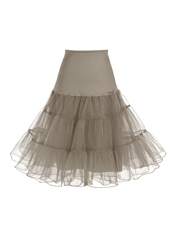 Dressystar 1950s Women Vintage Rockabilly Petticoat Skirt Tutu Underskirt