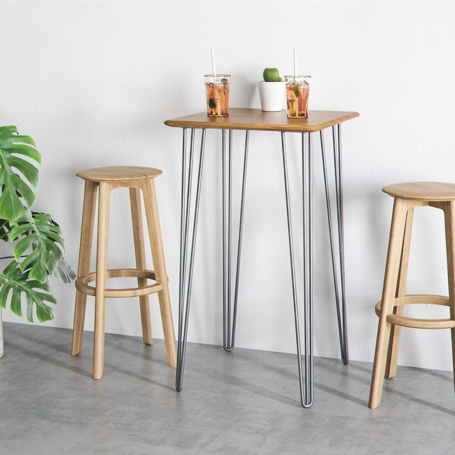4 x Heavy Duty Hairpin Table Legs – Superior Double Weld Steel Construction With Free Screws, Build Guide & Protector Feet, Worth $10! – Mid-Century Modern Style – 16'' To 40'', All Finishes (1/2 inch) by The Hairpin Leg Co. (Image #3)
