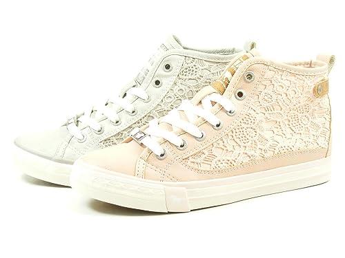 Mustang1146507 555 - Zapatillas altas Mujer , color rosa, talla 44 EU: Amazon.es: Zapatos y complementos