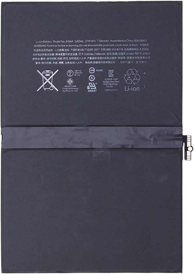 Compatible For iPad PRO 9.7  3.82V 7300mAh A1664 Internal Battery NEW