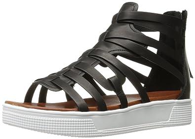 d22c8dab6c1 MIA Women s Elsie Gladiator Sandal Black 6.5 ...