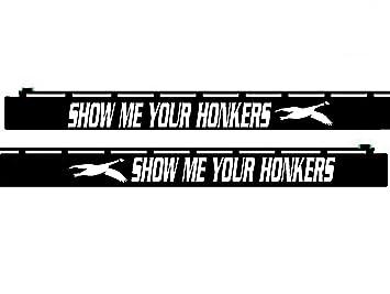 Amazoncom Shotgun Barrel Decal Show Me Your Honkers SBD - Custom shotgun barrel stickers