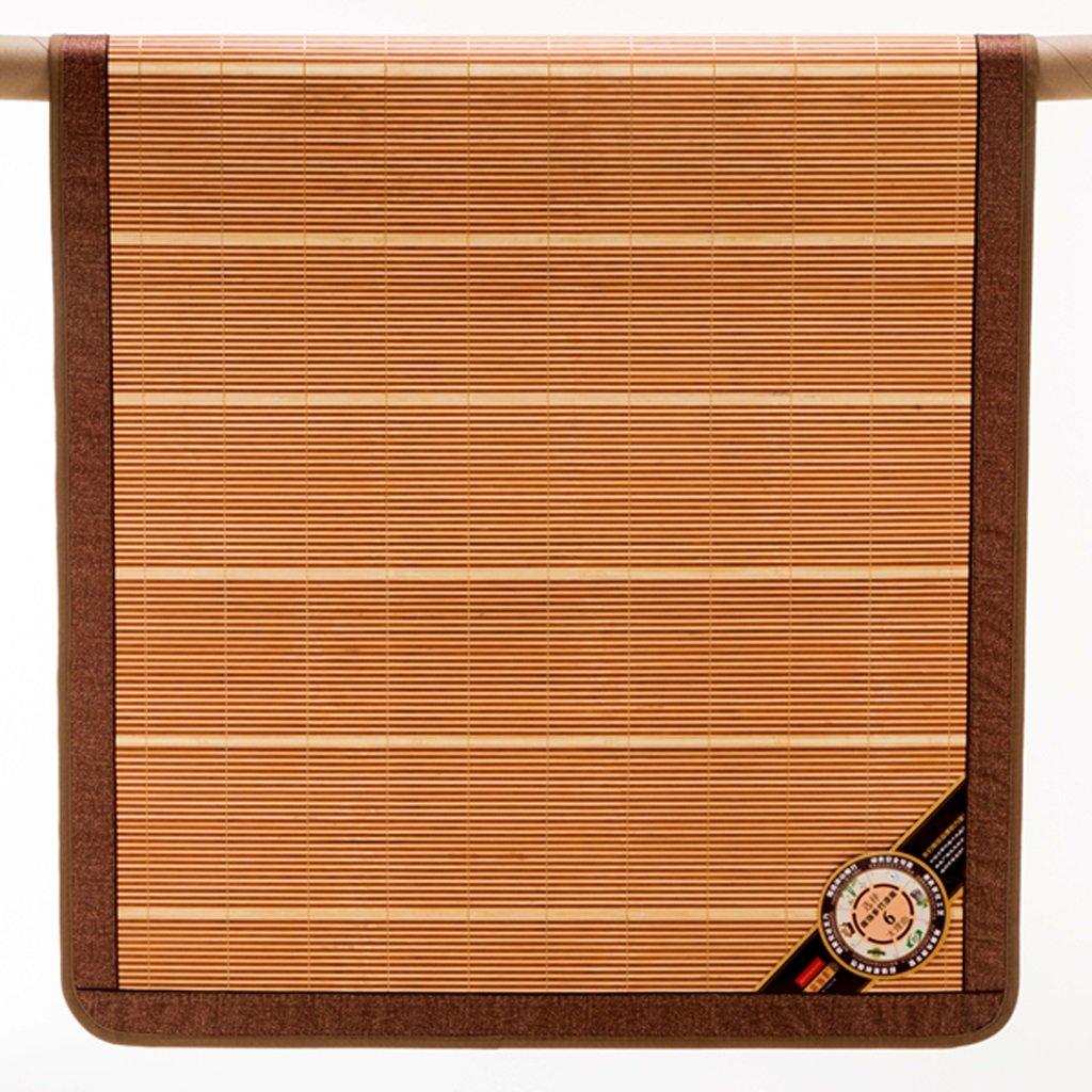 バンブークールマット装飾ドミトリールームドミトリーシングルベッド0.8 * 1.9m、0.9 * 1.9m折り畳まれた両面マット夏シングル竹マット (色 : Simple models, サイズ さいず : 0.8m) B07DD7N9D8 10502 0.8m|Simple models Simple models 0.8m