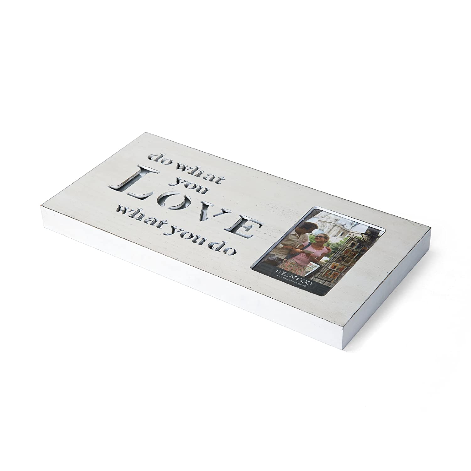 MELANNCO Wall Mount Love Sentiment Single Photo Frame Picture Collage