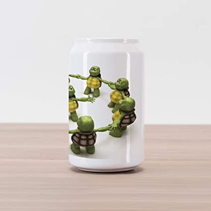 Amazon.com: Lunarable Reptile Cola Can Shape Piggy Bank ...