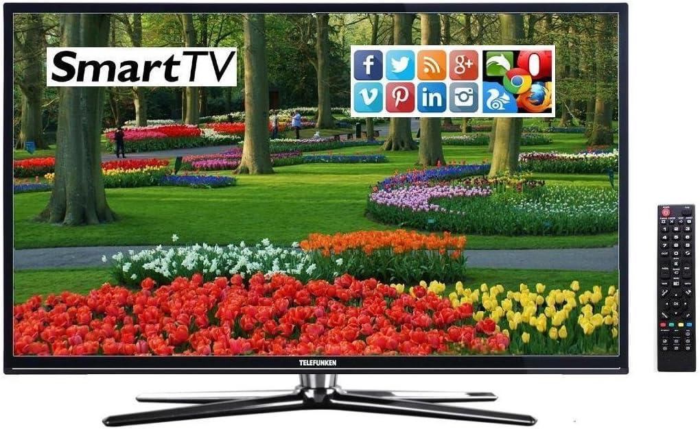 Smart TV Telefunken d32h286 b4cw HD TV con 32 pulgadas (aprox. 81 cm) Protector de pantalla incorporado y sintonizador triple Después de aktuellem h.265hevc estándar, recibe señales de satélite, cable DVB-T y