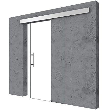 Durovin 1025mm Safety Glass Interior Sliding Door Include Hardware Track Kit Round Handle Without Soft Close Vertical Swirls