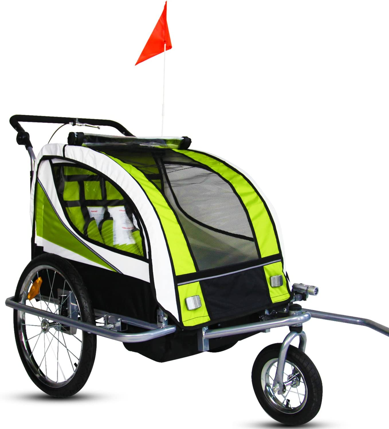 Kinbor New 2 in 1 Bicycle Pet Trailer Stroller