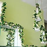 Weksi, fiori di seta e foglie verdi artificiali, ideali per matrimonio, casa, giardino 1pcs Champagne