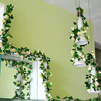 Jingxu Kunstliche Blumen Rattan Decor Hangende Dekoration Fur
