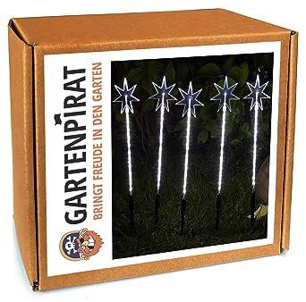 1d6421a4fd34e5 Sternenstäbe-Set mit 5 Garten sterne Leuchtstäbe 100 LED außen weihnachten  von Gartenpirat®  Amazon.de  Beleuchtung