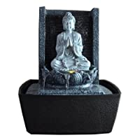 Indoor LED Water Feature Buddha Lotus Multi-Coloured 26 cm [German Language Instructions]