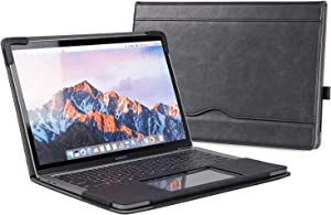 """TYTX MacBook Air Leather Case 13.3 Inch 2010-2017 (A1466 A1369) Laptop Sleeve Protective Folio Book Cover (Old MacBook air 13.3"""", Black)"""