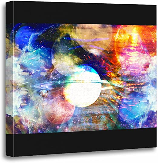 CANVAS Colorful Abstract Psychedelic Trippy Tre Print Art POSTER