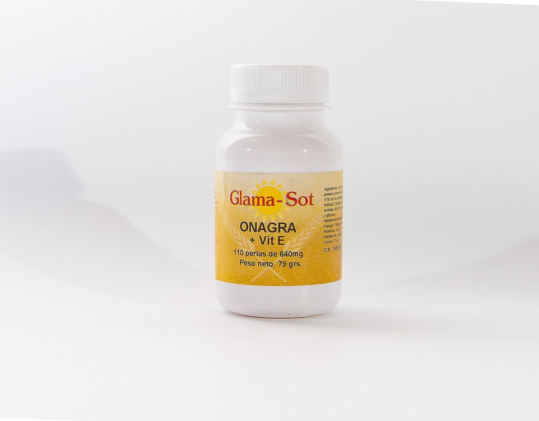 GLAMA-SOT Onagra + VIT E 110 perlas de 640 mg: Amazon.es: Salud y ...