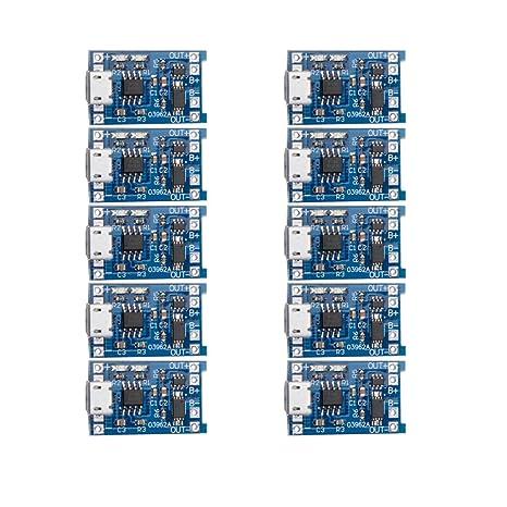 Amazon.com: chenbo 10 pcs 5 V Micro USB 1 A 18650 batería de ...