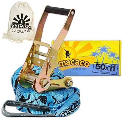 Humorous Macaco Slackline 85ft Long Carry Bag & Booklet Durable Jungle Designs Prints New Outdoor Sports Sporting Goods