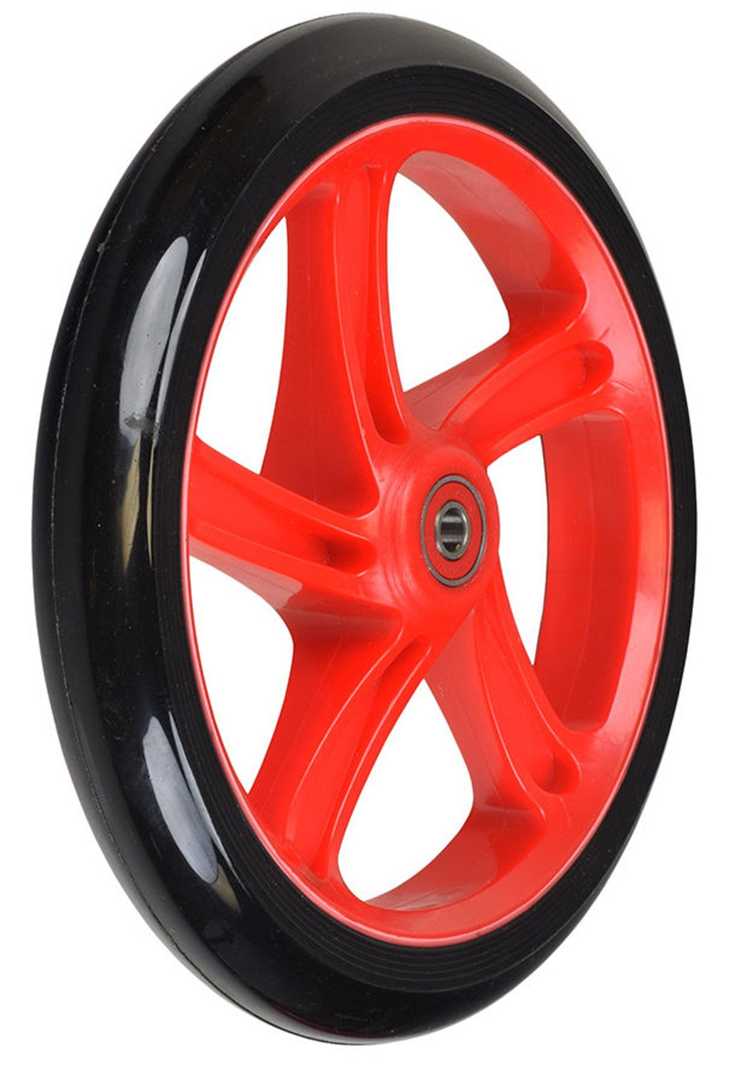 Replacement Wheel for the Razor A5 Lux Kick Scooter 200 mm (8''): Black Wheel with RED Hub