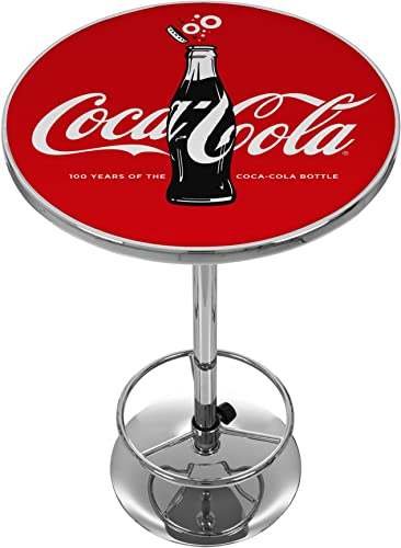 Trademark Gameroom 100th Anniversary of The Coca-Cola Bottle Pub Table, Chrome